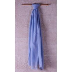 100% Pashmina輕薄披肩-愛麗絲藍