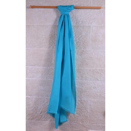 100% Pashmina輕薄披肩-土耳其藍