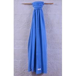 100% Pashmina厚織披肩-晴空藍